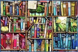 scaffale libri antichi