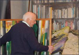 Moretti nel suo studio